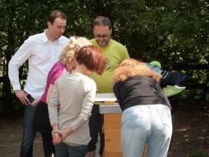 Völkerkontrolle durch die Neu-Imkergruppe: Untersuchung der Varroawindel auf Varroamilben