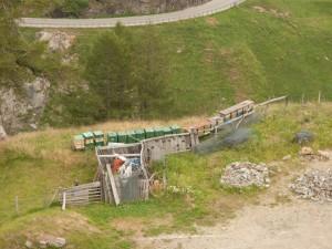 Beuten am Abstieg vom Timmelsjoch auf der südtiroler oder italienischen Seite