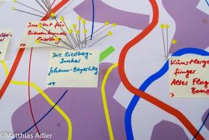 Die Riedbergimker auf dem Katasterplan der Künstlergruppe Finger