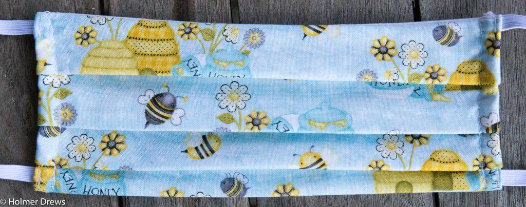 Mund-Nase-Schutzmaske mit Bienen- und imkerlichen Motiven